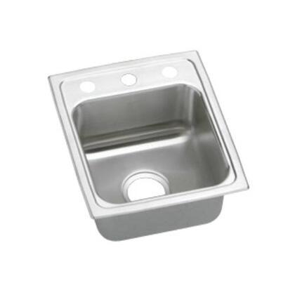 """Elkay LRAD1517450 Lustertone 4-3/8"""" Top Mount Single Bowl Stainless Steel Sink"""