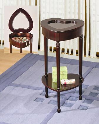 Coaster 900044 Traditional Wood Heart End Table