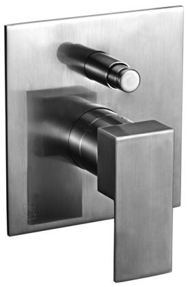 Alfi AB6801-XX Modern Square Shower Mixer with Diverter, Brass, Square Shaped Lever Handle, Sleek Modern Design, User-Friendly Installation and  UPC Certification in