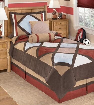 Milo Italia Margo Collection C1180TMP PC Size Top of Bed Set Includes 1 Oversized Comforter, 1 Bed Skirt, Pillow Shams and 2 Decorative Accent Pillows with Harlequin Pattern and Polyester Material in Multi Color