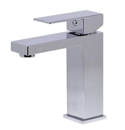 Alfi AB1229 Square Bathroom Faucet with Brass, Single Lever Control, Fixed Spout Single Hole Mount and UPC Logo of Authenticity in