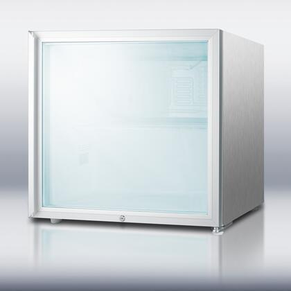 Summit FFAR2LGLCSS7  Freestanding Counter Depth Compact Refrigerator with 1.8 cu. ft. Capacity, 1 Wire ShelfField Reversible Doors