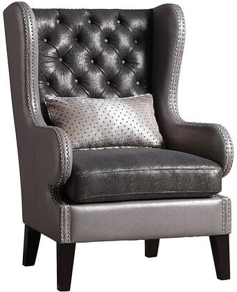 Acme Furniture 96208 Fenton Series Bycast Leather Wood Frame Accent Chair