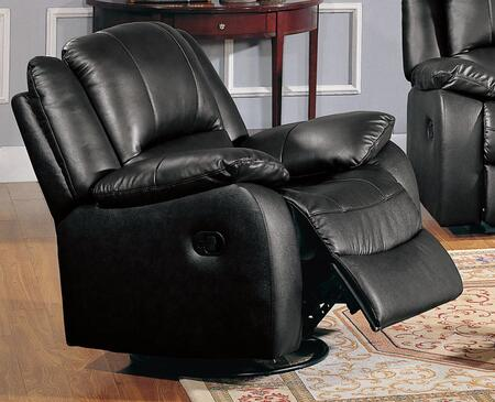 Yuan Tai CL8813C-BK Clermont Series Leather Wood Frame  Recliners