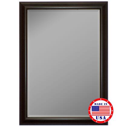 Hitchcock Butterfield 81330X 2nd Look Glossy Silver Smoked Black Framed Wall Mirror