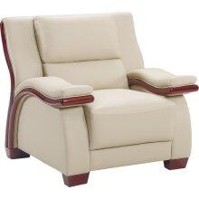 Global Furniture USA A167CH Leather with Wood Frame in Cappuccino
