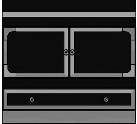 "La Cornue 36"" Special Cooktop Cabinet 900 with 2 Door, 1 Drawer and 2 Shelves"