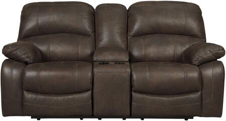 Signature Design by Ashley 4290143 Zavier Series Fabric Reclining with Metal Frame Loveseat