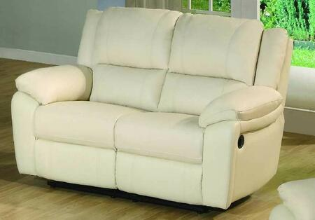 Yuan Tai BA6636LIV Baxter Series Leather Loveseat with Wood Frame Loveseat