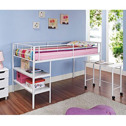 Walker Edison BTLD46SPWH  Twin Size Loft Bed