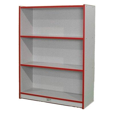 """Mahar M48SCASE 48"""" Single Sided Book Case in Maple Finish with Edge Color"""