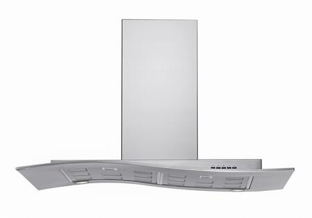Futuro Futuro WLMYSTIC Mystic Series Range Hood offer 940 CFM, 4-Speed Electronic Controls, Delayed Shut-Off, Filter Cleaning Reminder, Internal Whisper-Quiet Tangential Blower and in Stainless Steel