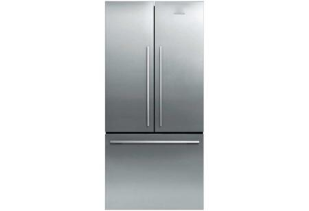"Fisher Paykel RF170AD 31"" ActiveSmart French Door Refrigerator with 16.9 cu. ft. Total Capacity, Adaptive Defrost, Humidity Control System, Sabbath Mode, 3 Adjustable Shelves, and LED Light"