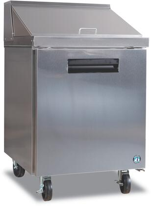 "Hoshizaki CRMR27-X 27"" Commercial Series Sandwich Top and Mega Top with 7.2 cu. ft. Capacity, Stainless Steel Construction, Anodized Aluminum Interior, Reversible Door, and Innovative Air Distribution System: Stainless Steel"