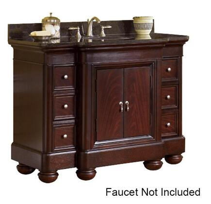 "Kaco Mount Vernon Collection 893-4800 48"" Vanity with 2 Doors, 6 Drawers, Bun Feet and Multi-Step Sherwin Williams Finish in Merlot"