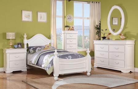 Acme Furniture 30125T5PC Classique Twin Bedroom Sets