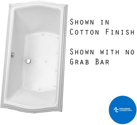 Toto ABR789T12Y Clayton Series Drop-In Airbath Tub with Acrylic Construction, Slip-Resistant Surface, and Grab Bar, Sedona Beige Finish