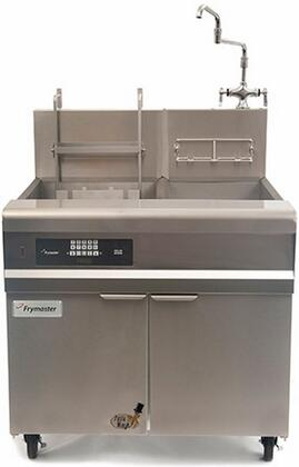 """Frymaster GPCRB 36"""" Pasta Magic Series Commercial Gas Pasta Cooker with 80000 BTU, 15 Gallon Capacity, Infrared Burners, Swing Hot/Cold Faucet and Basket Lifts, in Stainless Steel:"""