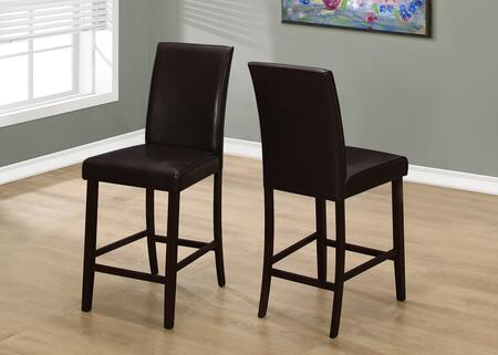 "Monarch I 190X 40"" 2 PCS Dining Chair with Tapered Legs, Contemporary Style and Upholstered"