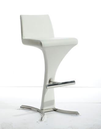 VIG Furniture VGOBA99PWHT Modrest Ascella Series Residential Bar Stool