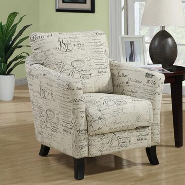 Monarch I 800X Accent Chair, with Curved Plush Back, Boxed Seat Cushion, and Solid Wood Post Legs