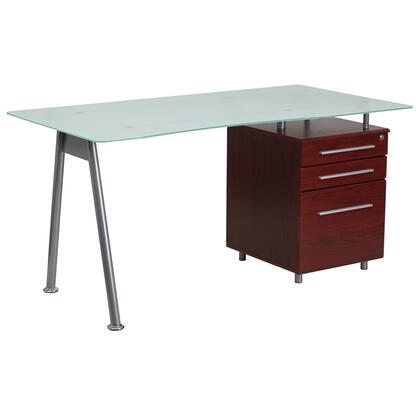 3 Drawer Glass Desk