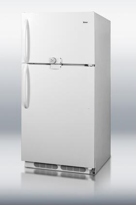"Summit CTR18LLF2 30""  Refrigerator with 18.2 Cu.Ft. Capacity in White"