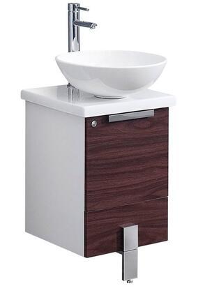 "Fresca FCB8110XXCWHV Adour 16"" Modern Bathroom Cabinet w/ Top & Vessel Sink in"