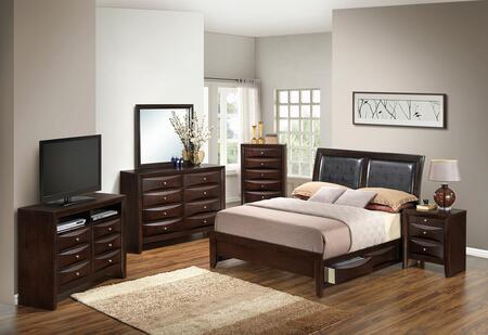 Glory Furniture G1525DDFSB2DMNCHTV2 G1525 Full Bedroom Sets