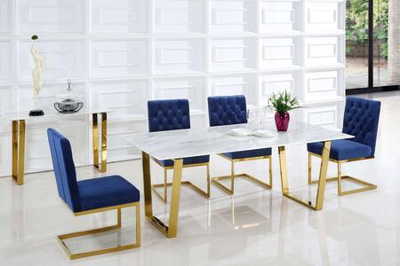 Meridian MER5PCRECDH4BLUKIT5 Cameron Dining Room Sets