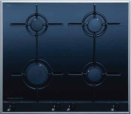 Kuppersbusch GKS6440MFUL  Black Gas Sealed Burner Style Cooktop