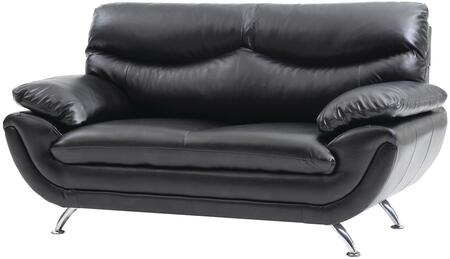 Glory Furniture G431L Faux Leather Stationary with Metal Frame Loveseat