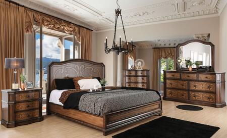 Furniture of America CM7831EKBEDSET Emmaline King Bedroom Se