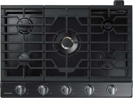 """Samsung Appliance NA30K7750Tx 30"""" Gas Cooktop with 5 Sealed Burners, Illuminated Knobs, Griddle, Wok Ring and Wifi, in"""