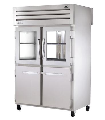 True STA2RPT-2H Spec Series Two-Section Pass-Thru Refrigerator with 56 Cu. Ft. Capacity, 134A Refrigerant, LED Lighting and Swing-Doors