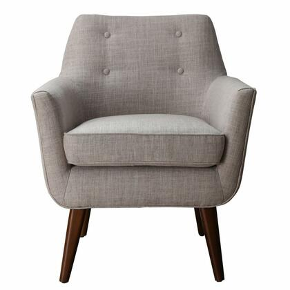 TOV Furniture Clyde TOVA38 Linen Chair with Solid beech wood frames, Removable seat cushion and Button tufted back