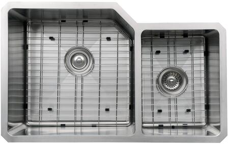 """Kraus KHU12332KPF1602KSD30 Precision Series 32"""" 60/40 Double-Bowl Kitchen Sink with Stainless Steel Construction, NoiseDefend, and Included Pull-Down Kitchen Faucet"""