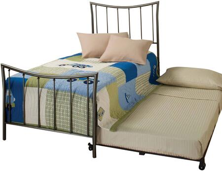 Hillsdale Furniture 1333BTWHTR Edgewood Series  Twin Size Panel Bed