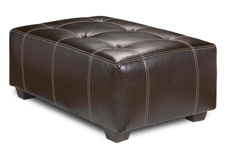 Chelsea Home Furniture 20735X-X Tufted Ottoman, Medium Cushion Firmness, and Vinyl Fabric Upholstery