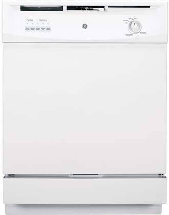 "GE GSD3300DWW 24"" 3300 Series Built In Full Console Dishwasher"