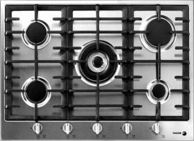Fagor 3FIA5GLSTX  Stainless Steel Gas Sealed Burner Style Cooktop