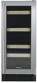 "Marvel 3SBAREBBOL 14.875"" Built In Wine Cooler, in Black Cabinet and Requires Full Overlay Panel"