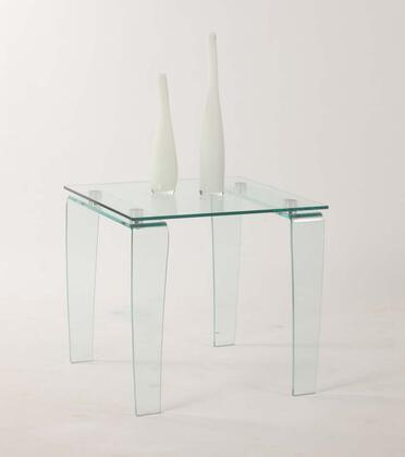 Chintaly VERALT Vera Series Modern Square End Table