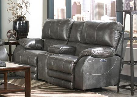 Catnapper 764279115278125278 Sheridan Series Faux Leather Reclining with Metal Frame Loveseat