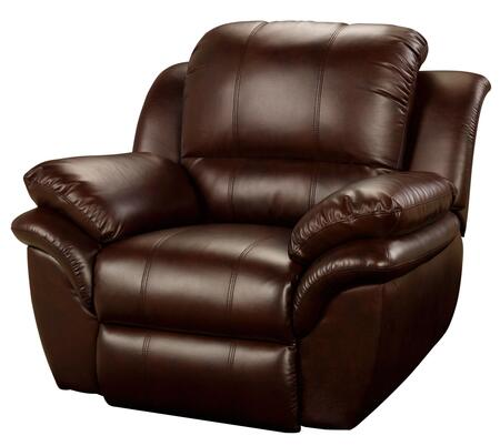 """New Classic Home Furnishings 22-203-12- Cabo 45"""" Power Recliner with Contemporary Design, Bonded Leather Match, Hardwood Frame, Sinuous Spring """"No Sag"""" Support, and Memory Foam Topper, in"""
