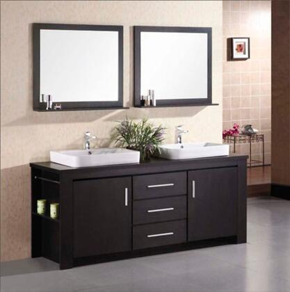 Design Element DEC083 Washington Double Sink Vanity Set in