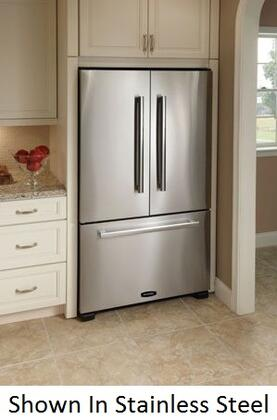 "AGA APRO36FDBNBLK 36"" Legacy Series Counter Depth French Door Refrigerator with 19.8 cu. ft. Capacity in Black"