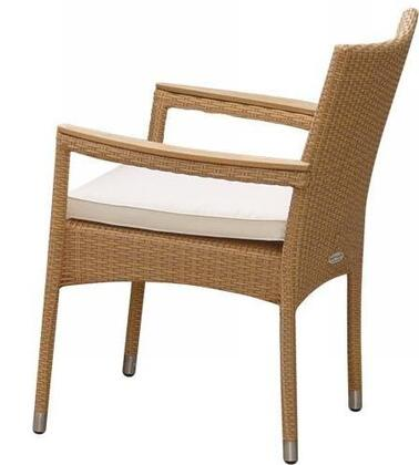 "Royal Teak Collection HESTXX 26"" Helena Stacking Chair in with Cushion"