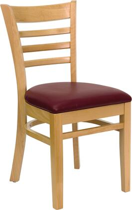 Flash Furniture XUDGW0005LADNATBURVGG Hercules Series Contemporary Vinyl Wood Frame Dining Room Chair