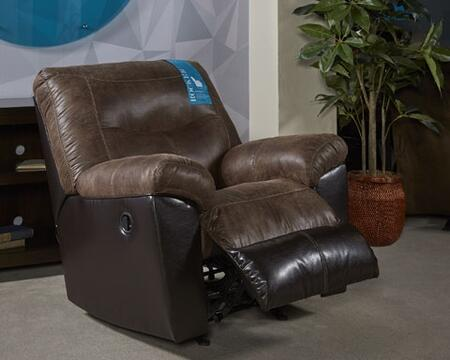 Signature Design by Ashley 6520225 Follett Series Contemporary Fabric Metal Frame Rocking Recliners